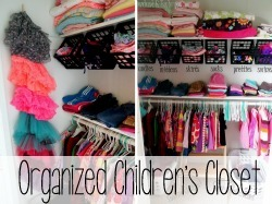 Lots of brilliant ideas for organizing kids closets and KEEPING them organized!