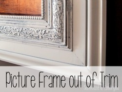 Make a GIANT custom picture frame out of trim.