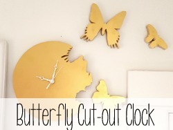 Make a dreamy Butterfly Cut-out Clock using a Scroll Saw!