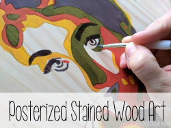 Posterized Stained Wood Art