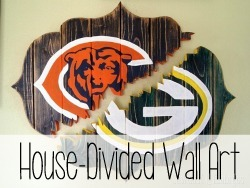 Make this 'Broken' bracket-shaped wall art for your HOUSE DIVIDED.