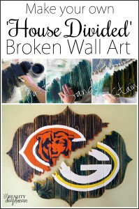 Make your own 'House Divided' wall art that appears to be BROKEN! {Reality Daydream}