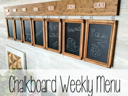 Chalkboard Weekly Menu