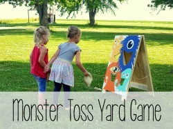 Monster Toss A-frame Yard Game Tutorial {Reality Daydream}
