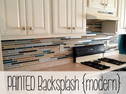 Paint your backsplash to look like TILE!