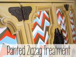 Painted ZigZag Technique for furniture {reality Daydream}