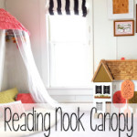 Reading Nook Canopy made from an old Papasan Chair!