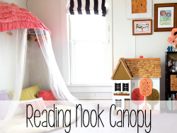 Reading Nook Canopy made from an old Papasan Chair! {Reality Daydream}