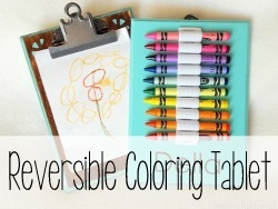 Reversible coloring tablet