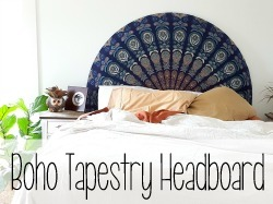 Rounded Boho Headboard Tutorial {Reality Daydream}