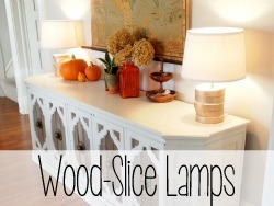 Stack some wood slices to make a unique base to your lamp! Wiring tutorial as well! {Reality Daydream}
