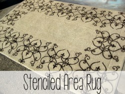 Stencilled Rug {Reality Daydream}