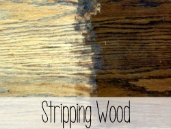 Stripping Wood