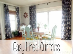 Super Simple lined curtains