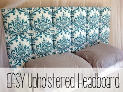Suuuuuper simple upholstered headboard {Reality Daydream}