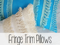 Fringe Trim Pillows
