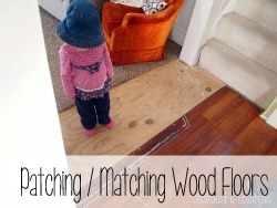 Tips and tricks for patching and matching hardwood floors! {Reality Daydream}