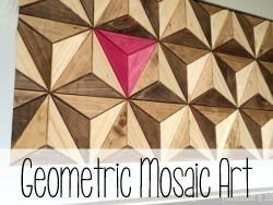 Use ONE BOARD to make this geometric artwork! {Reality Daydream}
