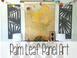 Use a jigsaw to create this large-scale palm branch art panels {Reality Daydream}