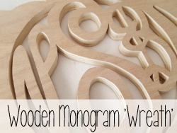 Use a scroll saw or jigsaw to create your own pumpkin (or spider web!) shaped monogram 'wreath'
