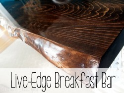 Use a slab of live-edge as your breakfast bar!