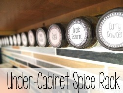 Use a strip of velcro on the wall under your cabinets to keep your spices!