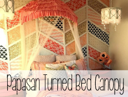 Papasan Turned Bed Canopy