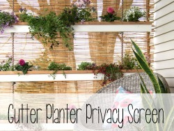 Gutter Planter Privacy Screen