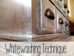 Whitewash Glazing Tutorial {Reality Daydream}