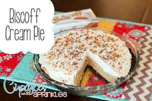 Biscoff Cream Pie {Cupcakes w Sprinkles}
