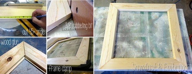 Building a Frame {Sawdust and Embryos}