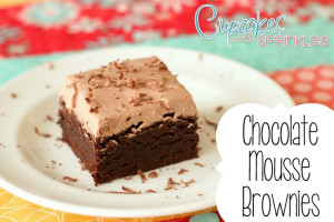 Chocolate Mousse Brownies {Cupcakes with Sprinkles}