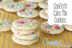 Confetti Cake Mix Cooies