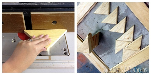 Creating a pattern for the surface of an end table transformation {Sawdust and Embryos}