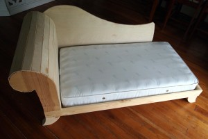DIY Toddler Bed / Fainting Couch {Part 2}