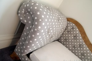 Toddler Bed / Fainting Couch {Tufting & Upholstery}