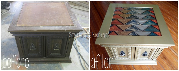 End Table Transformation {Sawdust and Embryos}