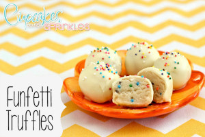 Funfetti Truffles {Cupcakes with Sprinkles}