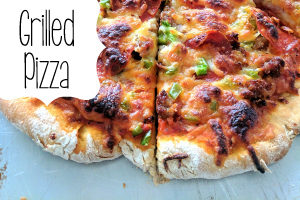 Grilled Pizza with homemade pizza dough! {Reality Daydream}