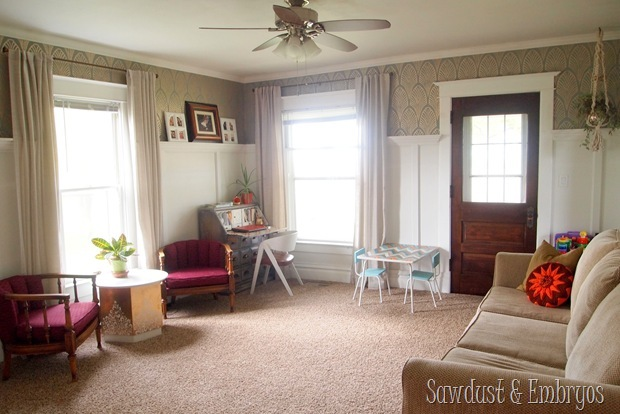 Living Room Curtains {Sawdust and Embryos}