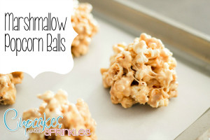 Marshmallow Popcorn Balls (Cupcakes with Sprinkles)