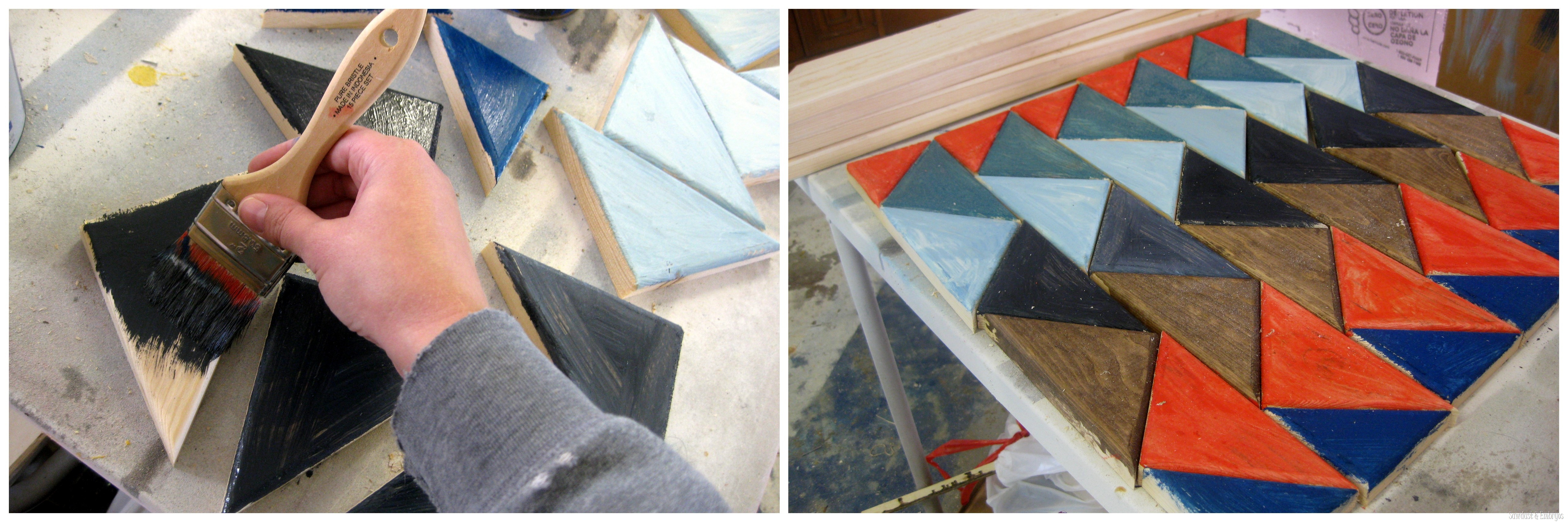 Painting A Native American Pattern Onto An End Table Surface {Sawdust And  Embryos}