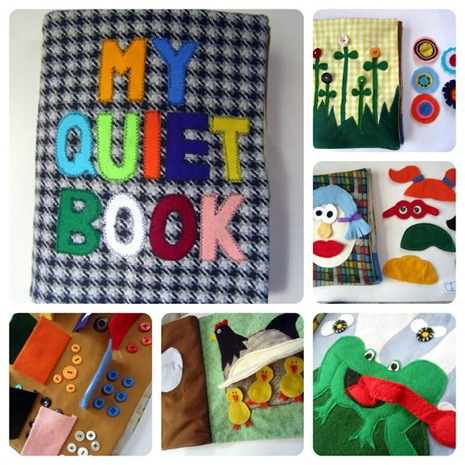 Quiet 'Busy' Books for children