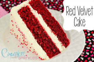 Red Velvet Cake {Cupcakes with Sprinkles}