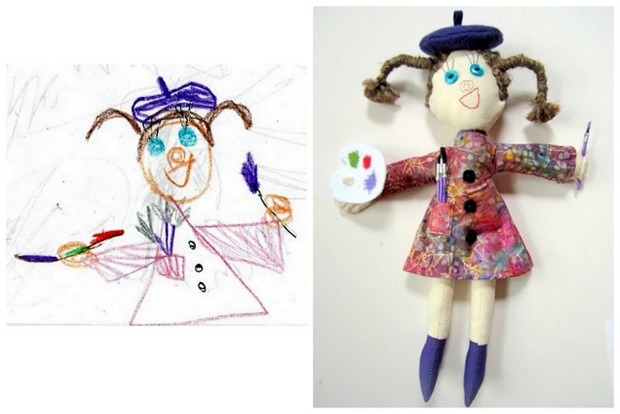 Softies inspired by Chldren's Drawings