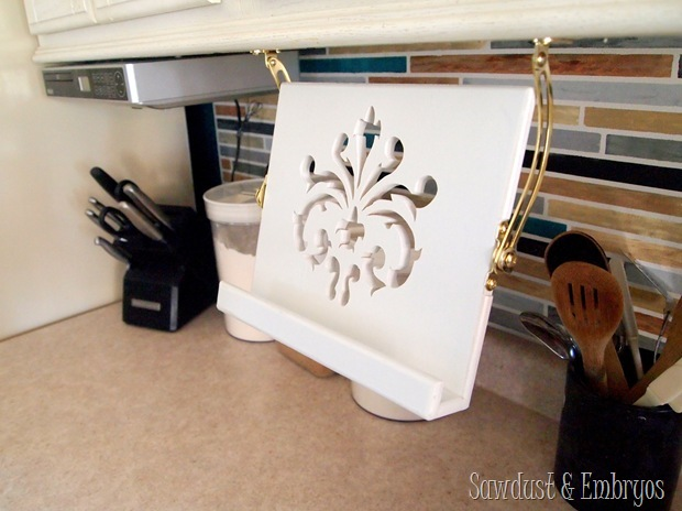How To Make A Book Holder : Diy tablet recipe book holder under cabinets reality