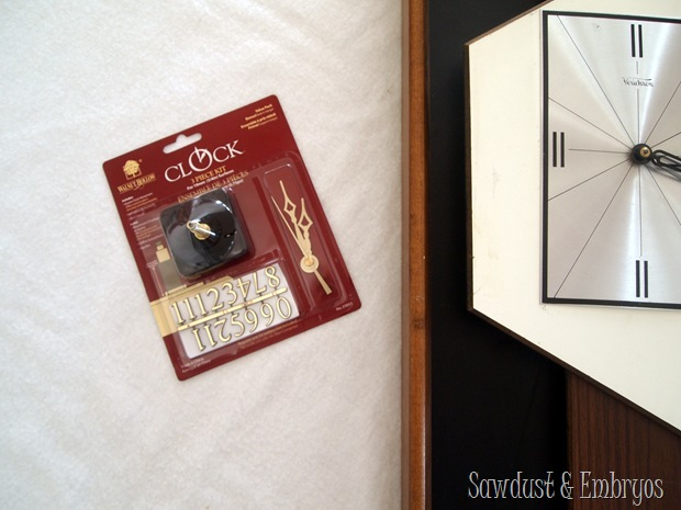 Buy a clock kit and fix your clock TUTORIAL {Sawdust and Embryos}