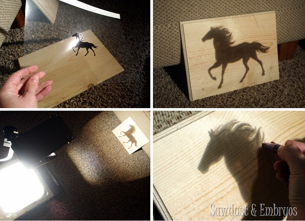Creating a silhouette plaque using a Scroll Saw