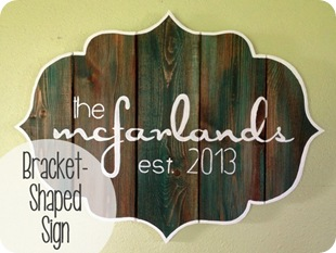 DIY Barnboard sign
