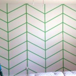 Herringbone Patchwork Accent Wall {Part 1}